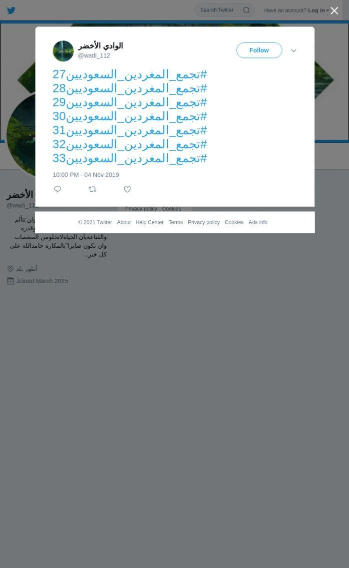 لقطة لاول تغريدة في هاشتاق #تجمع_المغردين_السعوديين31