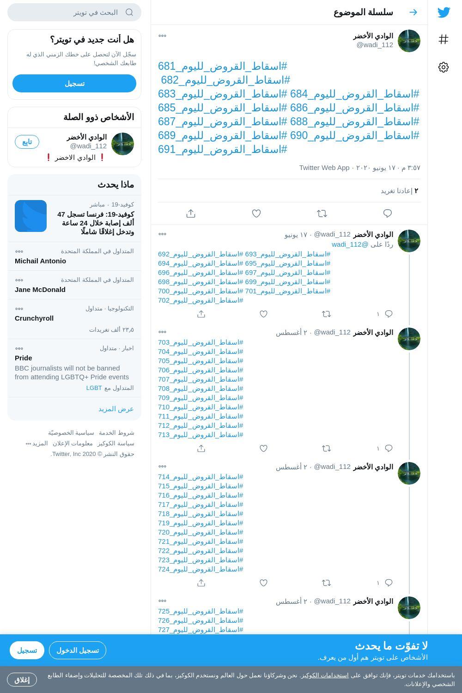 لقطة لاول تغريدة في هاشتاق #اسقاط_القروض_لليوم_688